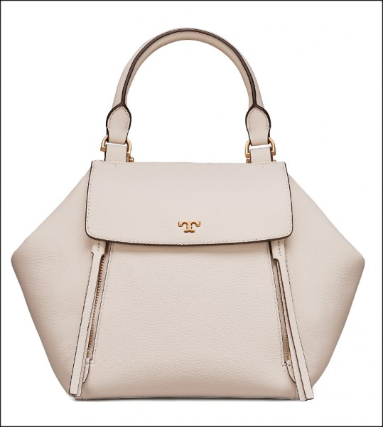 Tory Burch Half-Moon手提鑽石包(純白),22,900元。