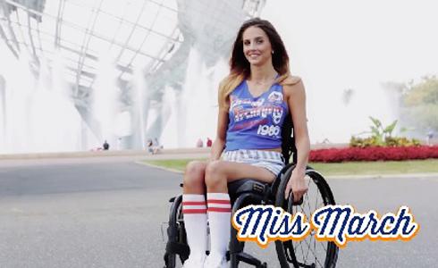月曆女郎票選 輪椅女孩冠軍
