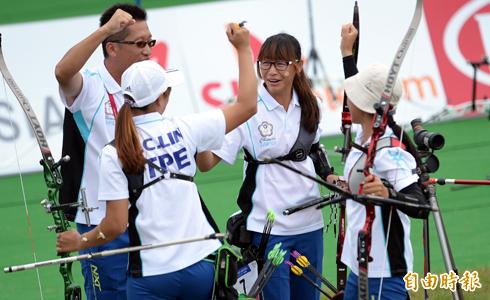 台反曲弓女團 贏韓國奪金牌