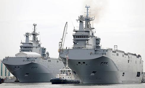 法兩棲艦抵日  參加多國軍演