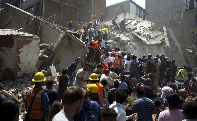 墨西哥發生7.1強震 逾百人喪生