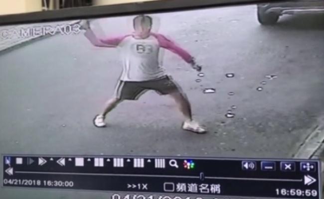 振興醫院遭丟汽油彈 影像曝光