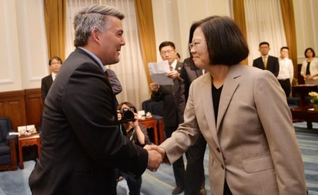 賈德納晉見蔡總統:台灣展現領導模範