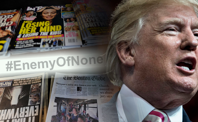 川普嗆媒體 350家美媒齊發社論大反擊