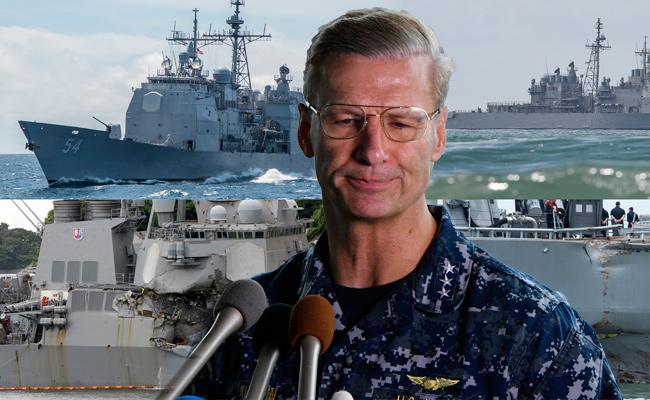 一年撞4次 美軍第七艦隊指揮官下台