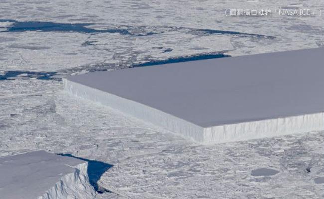 是誰切的? 南極赫見矩形大冰山
