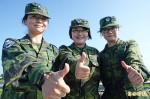 地勤三姊妹 參與國道操演