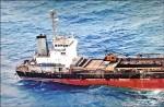 廢棄貨輪擱淺 海象差難處理