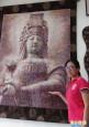 耗時半年、上萬張布片 拼出媽祖神像