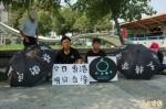 支持香港佔中行動 邱世文斗六火車站靜坐