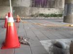 重陽橋北市端引道水泥塊剝落 危及路人