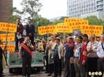 加油站業者至中油抗議 爭取生存
