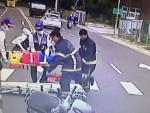 2機車路口搶快追撞 3女1男受傷