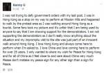 肯尼吉現身香港街頭 盼佔中和平落幕