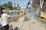 冒火工地開挖 疑混凝土摻廢鋁渣