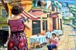 牆面「畫」為咖啡廳 美崙村民險當真