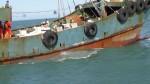 大陸「幽靈船」 違法捕魚 海巡隊扣船開罰