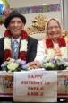 全球最年長夫婦慶生 兩人加總211歲