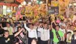 林佳龍選前之夜徒步遊行:明天將是新時代的開始