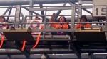收費員突襲國道東湖路段 攀ETC門架抗議