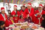 溫馨北門耶誕餐會 企業家返鄉資助學童