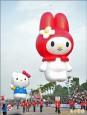 大氣球遊行 KITTY、美樂蒂亮相