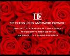 艾爾頓強向全世界發喜帖 見證他與男友的大日子