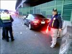國道上執勤警員遭撞傷