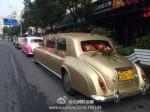 結婚出動勞斯萊斯車隊 土豪金車內還藏黃金