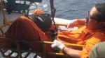 船員病痛外海待援 空軍救護隊吊掛送醫