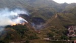 金瓜石火燒山 火勢綿延2公里