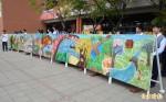 新化高中塗鴉藝術牆登場 畫出家鄉味