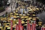 「佔中」運動後 香港首度「爭真普選」遊行