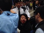 元朗反水貨客示威爆衝突 港警拘捕33人