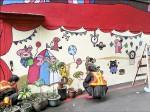彩繪圍牆 勞動人生活變彩色