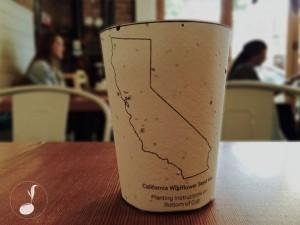 可生物分解咖啡杯 內建種子種大樹