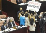 《TAIPEI TIMES 焦點》 TSU legislators protest against PRC air routes