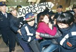 《TAIPEI TIMES 焦點》 Activists, police scuffle over M503 route