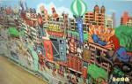 漫畫家凌群天馬行空 一幅畫逛「板橋大街」