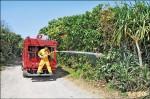 防掃墓火燒山 林務局噴44公里阻燃劑