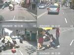 竹東小鎮傳溫馨 擋車撐傘護路倒傷患