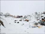 強震釀雪崩 千人困聖母峰