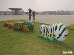 毛毛蟲入侵?!免驚啦!是公共藝術品