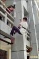 台南防火防震宣導 學生體驗高樓垂降