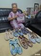 模範母親女紅精巧  7旬嬤髮飾、衣服、鞋子配成套