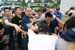《TAIPEI TIMES 焦點》 Anti-China demonstrators attacked by black-clad men