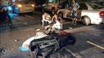 酒駕載兒闖攔檢點 撞車雙摔傷
