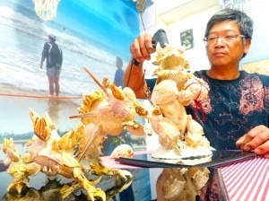《TAIPEI TIMES 焦點》Kinmen artist turns shell obsession into show at army base