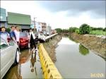 台南六塊寮排水堤岸坍 地方憂擴大