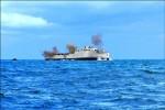 中正艦爆破 「礁」給魚群